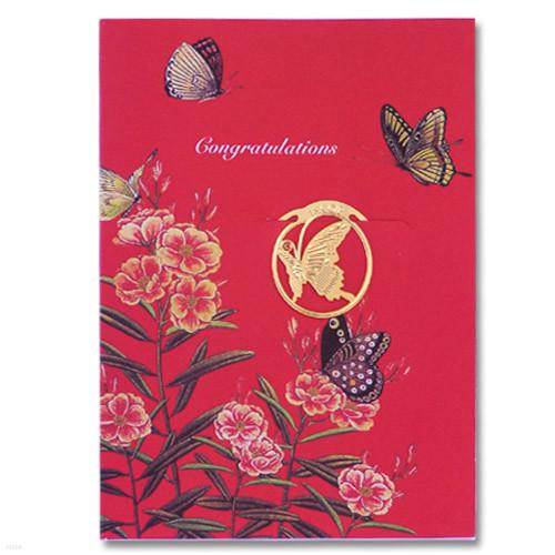 [책갈피 카드] 미니 꽃나비 북찌카드