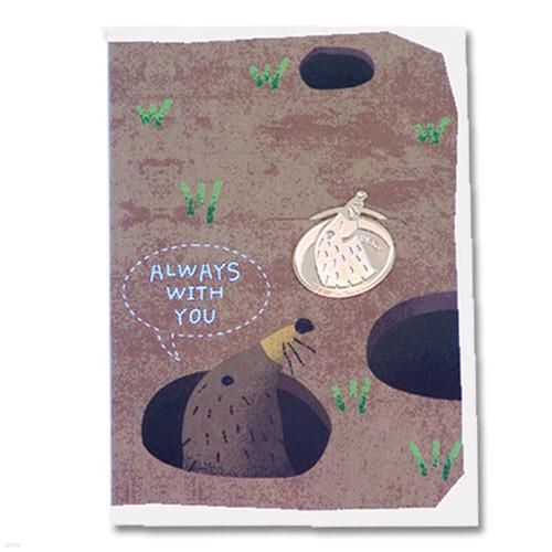 [책갈피 카드] 미니 두더지 북찌카드