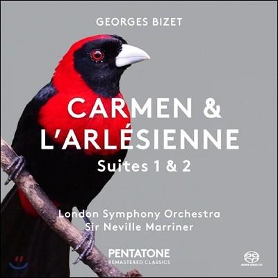 Neville Marriner 비제: 카르멘, 아를의 여인 서곡집 - 네빌 마리너, 런던 심포니 (Bizet: Carmen & L'Arlesienne Suites 1 & 2)