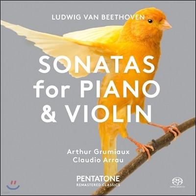 Arthur Grumiaux / Claudio Arrau 베토벤: 바이올린 소나타 1번, 5번 '봄' - 아르튀르 그뤼미오, 클라우디오 아라우 (Beethoven: Sonatas for Piano and Violin Op.24 'Spring', Op.12-1)