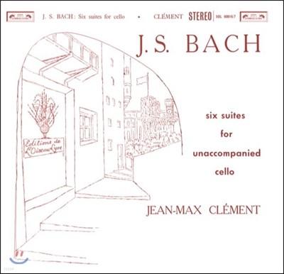 Jean-Max Clement 바흐: 무반주 첼로 모음곡 전곡집 (J.S. Bach: 6 Cello Suites For Unaccompanied Cello) 장-막스 클레망 [180g 2 LP]