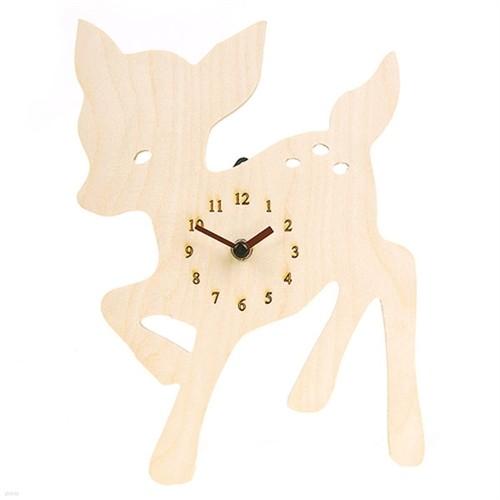 [하이모리] 타임데코 Deer Clock(저소음) [벽시계/핸드메이드/인테리어소품/디자인벽시계/시계]