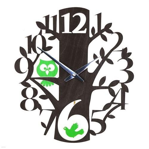 [하이모리] 타임데코 Birds Owls Clock(저소음) [벽시계/디자인벽시계/인테리어소품/핸드메이드]