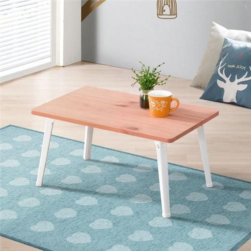 [채우리] 나린 접이식 소나무 원목 테이블 600