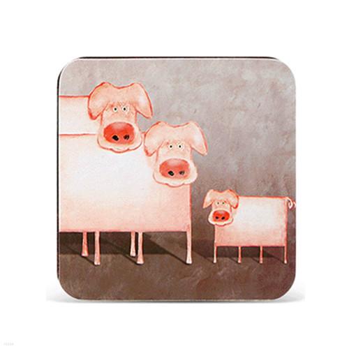 아트 디자인 냄비받침 셋(돼지)