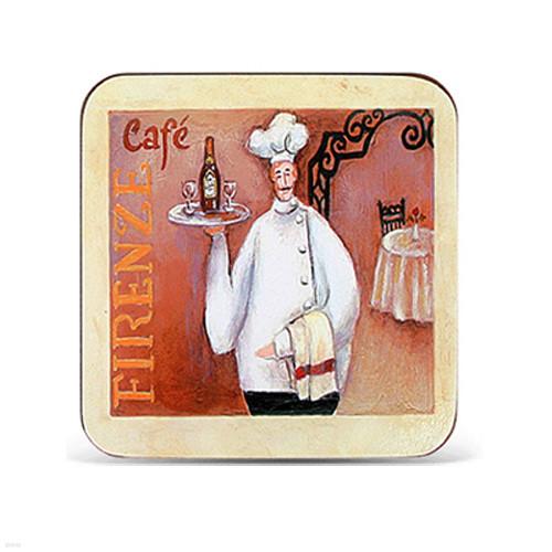 아트 디자인 컵받침 셋(주방장 피렌체)
