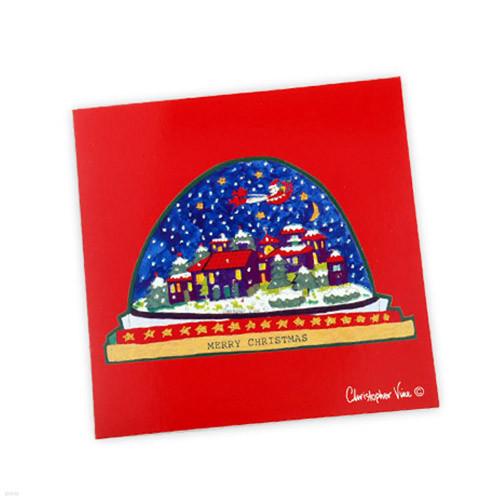 CVD CARD - CHRISTMAS SNOW DOME (CCXM005)