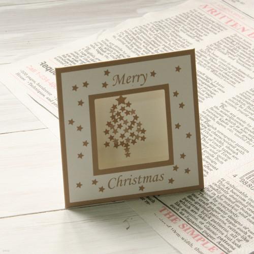 크리스마스 스탠드카드-Silver Tree