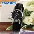 카시오 LTP-1095E-1A 가죽밴드 아날로그 시계