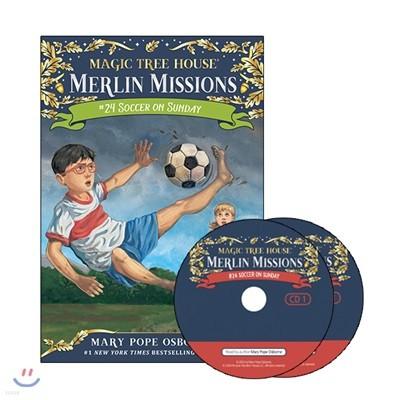 Merlin Mission #24 : Soccer on Sunday (Book+CD)