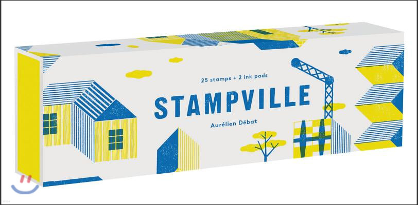 Stampville : 25 Stamps + 2 Ink Pads (스탬프 25개 + 잉크패드 2개 세트)