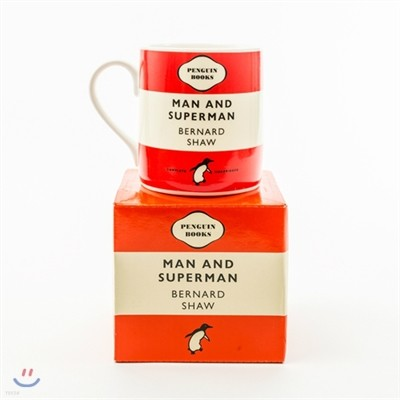 Penguin Mug : Man and Superman (Crimson)