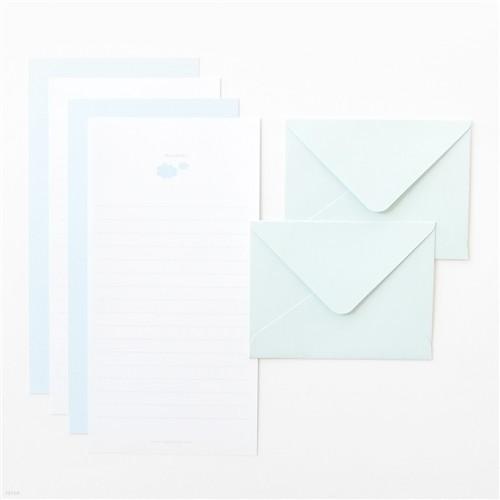 쁘띠 미니 편지지 세트 - Cloud