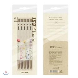 [문구/GIFT] [인기상품]153 플라워(Flower) 5종세트 (0.5mm)