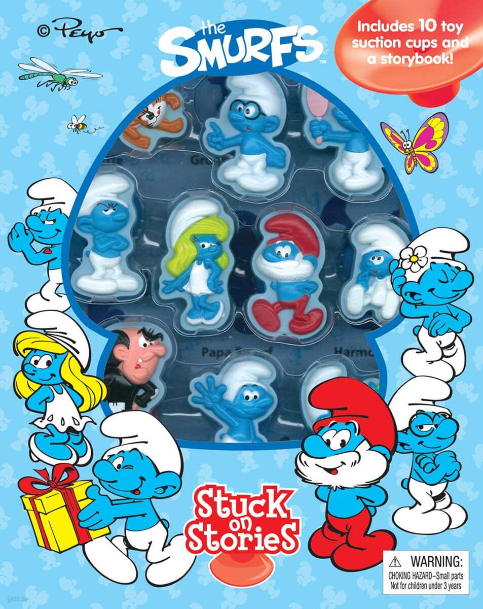 Stuck On Stories : Smurfs 스턱온 시리즈 : 스머프 (흡착 피규어 10개 포함)