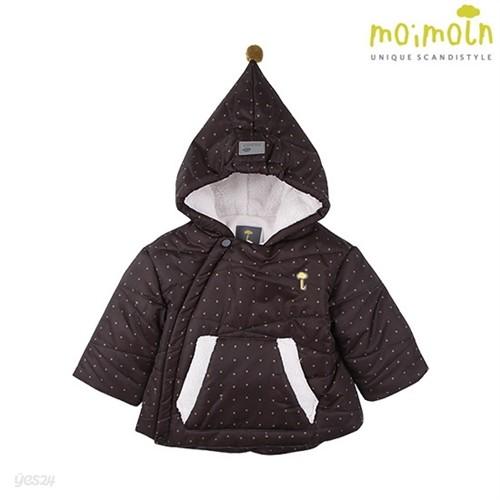 [모이몰른] 코리네패딩점퍼(털안감) BK [겨울]