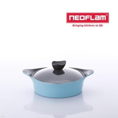 네오플램 에콜론 냄비 애니 24cm 전골 유리뚜껑