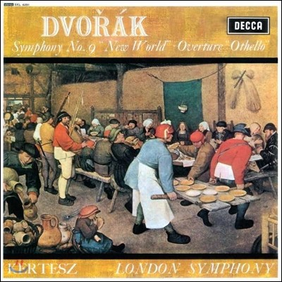 Istvan Kertesz 드보르작: 교향곡 9번 '신세계', 오텔로 서곡 - 이스트반 케르테츠, 런던 교향악단 (Dvorak: Symphony Op.95 From the New World, Othello Overture) [LP]