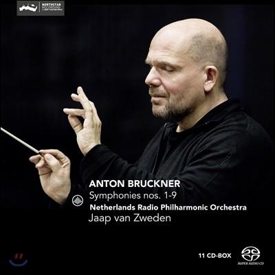 Jaap van Zweden 브루크너: 교향곡 1-9번 전곡집 (Bruckner: Symphonies 1-9) 네덜란드 라디오 필하모닉 오케스트라, 야프 판 츠베덴