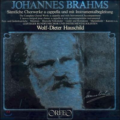 Wolf-Dieter Hauschild 브람스: 합창 음악 전곡집 (Brahms: Complete Choral Works A Cappella & with Instruments) 볼프-디터 하우쉴트 [6LP]