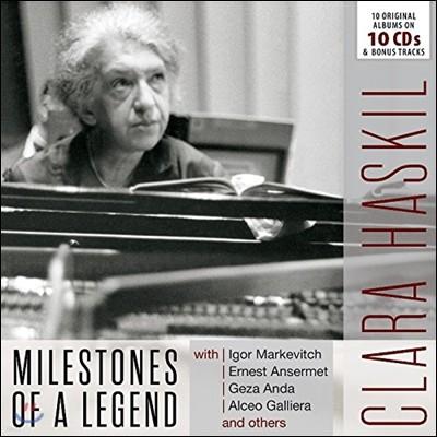 Clara Haskil 클라라 하스킬 - 전설의 마일스톤즈: 10 오리지널 앨범스 (Milestones of a Legend - 10 Original Albums)