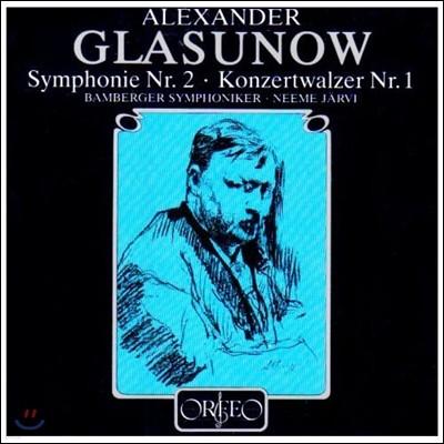 Neeme Jarvi 글라주노프: 교향곡 2번, 4번, 7번, 협주적 왈츠 1번 (Glazunov: Symphonies Op.16, Op.48, Op.77, Concerto Waltz Op.47) 네메 예르비, 밤베르크 교향악단 [2LP]