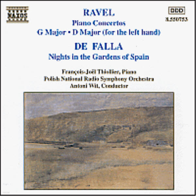 라벨 : 피아노 협주곡, 파야 : 스페인 정원의 밤 (Ravel : Piano Concerto, Falla : Nights in the Gardens of Spain) - Francois-Joel Thiollier