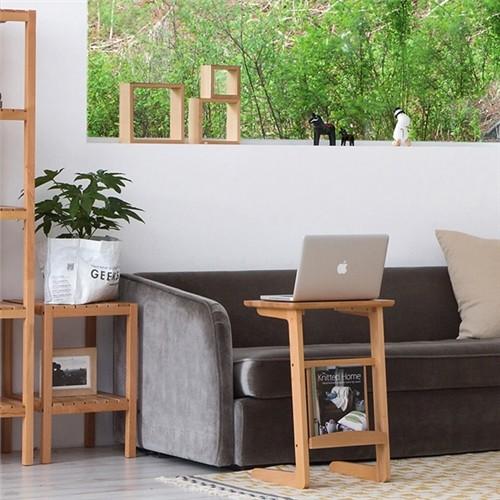 [홈앤하우스] 비치우드 원목 사이드 테이블
