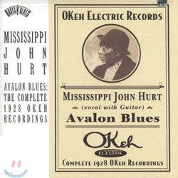Mississippi John Hurt - Avalon Blues: The Complete 1928 Okeh Recordings