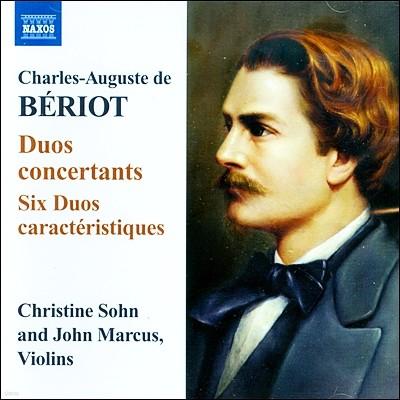 Christine Sohn / John Marcus 베리오: 듀오 콘체르탄츠, 6개의 성격적인 이중주 (Charles Auguste de Beriot: Duo concertants)