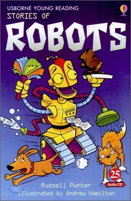 Usborne Young Reading Audio Set Level 1-25 : Stories of Robots (Book & CD)