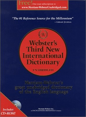 Webster's Third New International Dictionary, Unabridged with CD-ROM