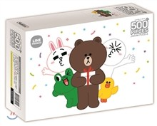 라인프렌즈 직소 퍼즐 500조각 선물