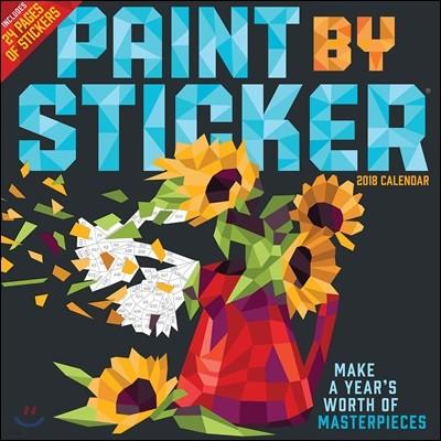 Paint by Sticker 2018 Calendar