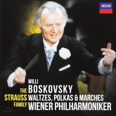 Willi Boskovsky 슈트라우스 패밀리 - 왈츠, 폴카, 행진곡 (The Strauss Family - Waltzes, Polkas & Marches) 빌리 보스코프스키, 빈 필하모닉