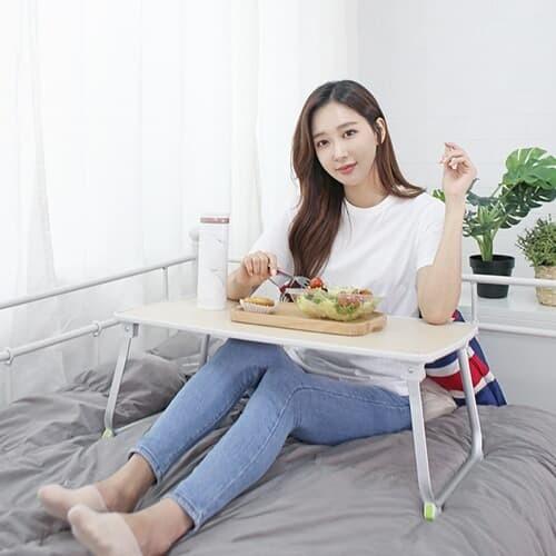 내츄럴 리빙 노트북 독서 베드트레이 접이식테이블H70