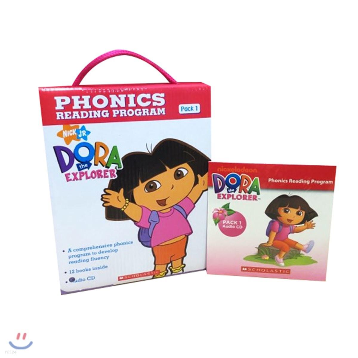 Dora The Explorer Phonics Fun Pack 1 with CD : 도라 파닉스 리더스