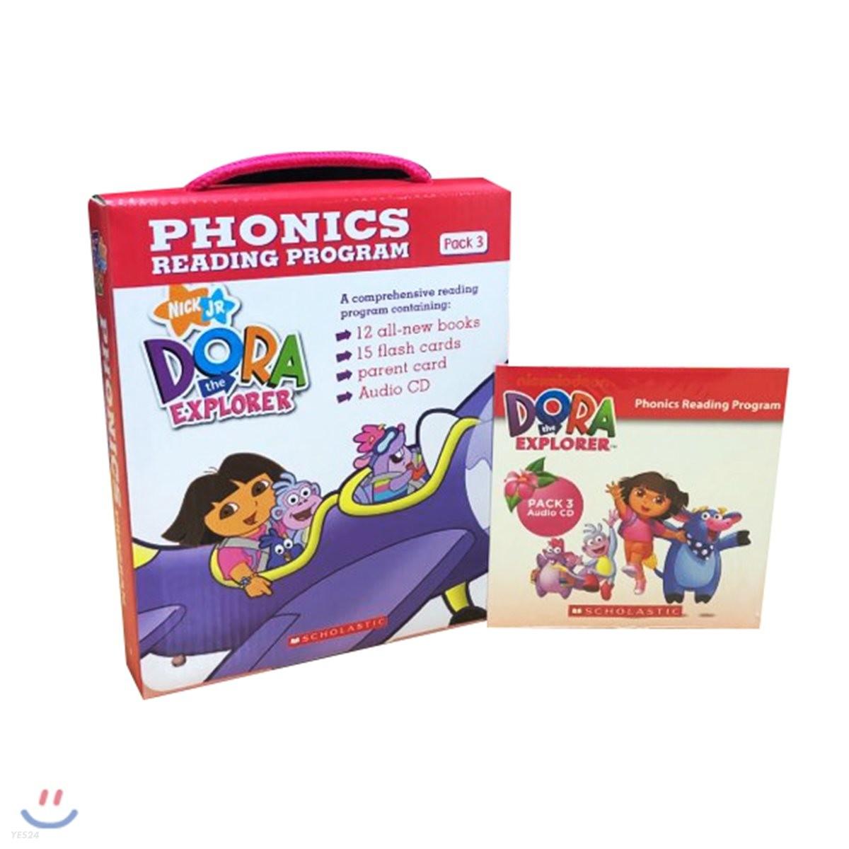 Dora The Explorer Phonics Fun Pack 3 with CD : 도라 파닉스 리더스 3