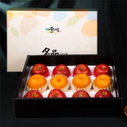 [[이슬마루] 사과 배 혼합 선물세트 4.3kg(사과8개/배4개)