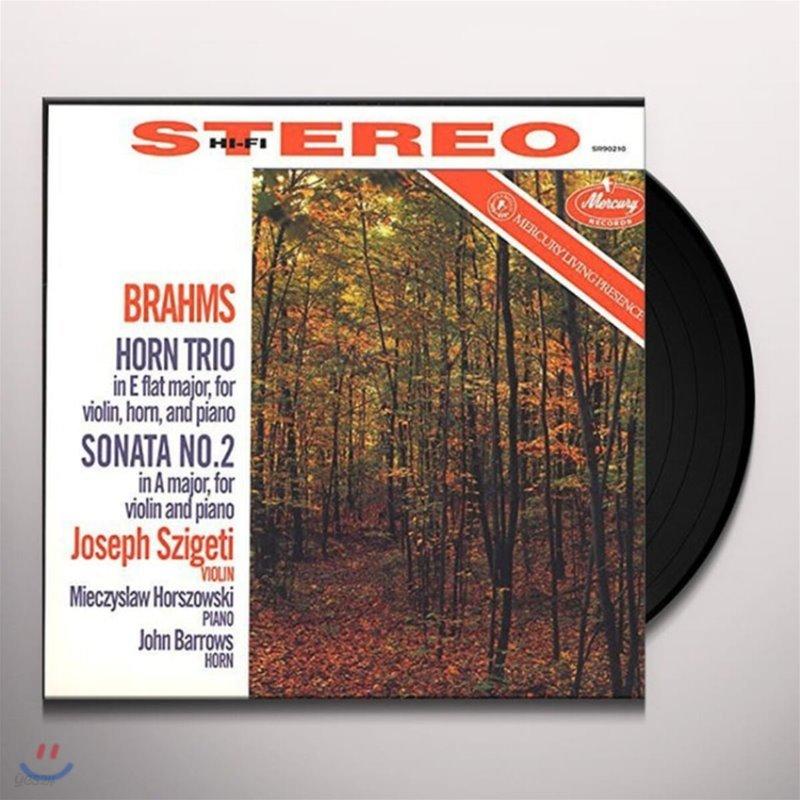 Joseph Szigeti 브람스: 바이올린, 혼, 피아노를 위한 트리오 Op. 40, 소나타 2번 [LP]