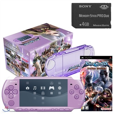 [PSP]소울칼리버 브로큰 데스티니 라일락 번들팩+소니 4GB
