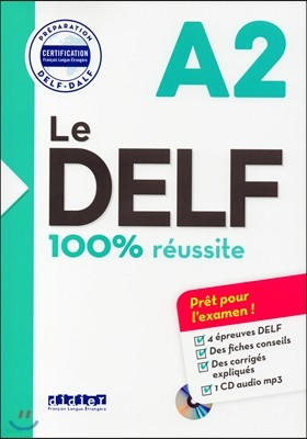 Le Delf A2 100% Reussite (+CD MP3)