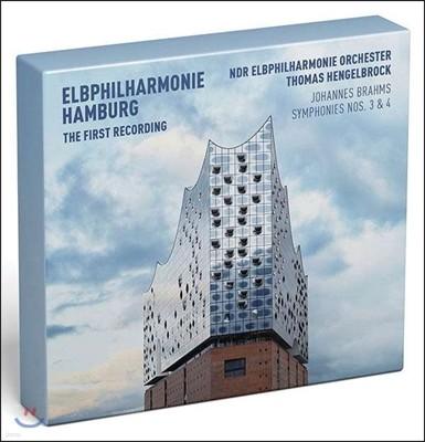 Thomas Hengelbrock 브람스: 교향곡 3 & 4번 (Brahms: Symphonies Op.90 & Op.98) 토마스 헹겔브로크, 함부르크 엘브 필하모니 오케스트라 [Deluxe Edition]