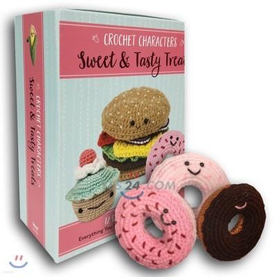 Crochet Characters Sweet & Tasty Treats : 디저트 캐릭터 코바늘 뜨기 (털실 키트 포함)