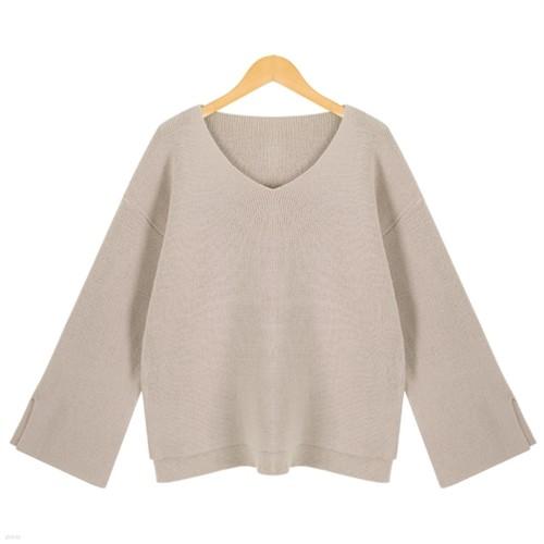 [드레스날다] 원띵 절개 언발 브이넥 니트(knit357)
