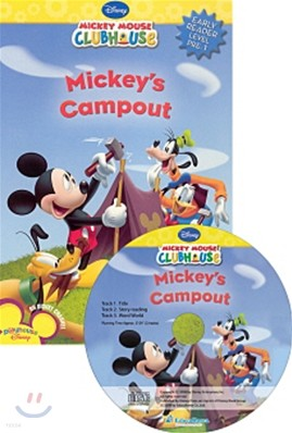 Disney Mickey Mouse Clubhouse Early Reader Level Pre-1 : Mickey's Campout (Book + CD)