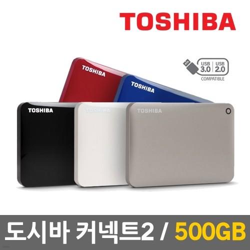 [무료배송/파우치증정] 도시바 CANVIO™ Connect2 500GB 휴대용 외장하드
