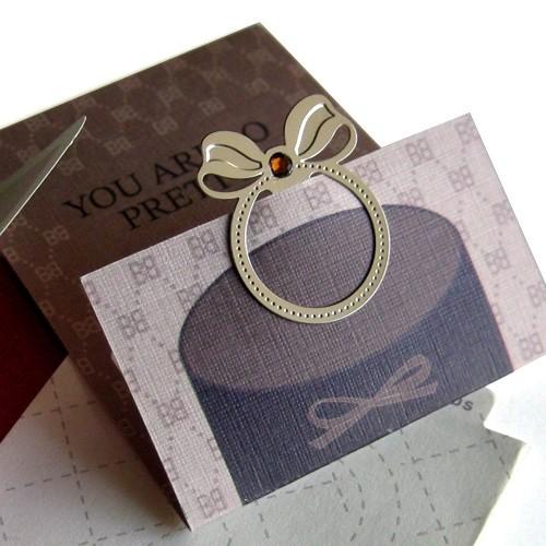 [책갈피 카드] 리본 반지 - 예쁜 반지모양 북마크와 카드를 한번에!