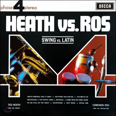 Ted Heath / Edmundo Ros 테드 히스와 에드문도 로스 1, 2집 - 스윙 대 라틴 (Heath VS. Ros - Swing VS. Latin) [2LP]