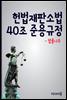 헌법재판소법 40조 준용 규정 : 김평우 변호사 vs 강일원 재판관